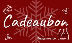 Kerst Cadeaubon Burgemeester Jansen